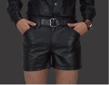 AW549 Ledershorts,Leder Shorts,Gay kurze lederhose,leder hose,leather shorts 30W