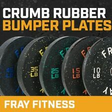 Fray Fitness Olympic Rubber Bumper Weight Plates Plate 1015253545 Lbs
