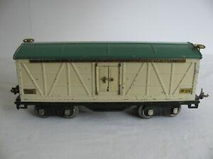 Prewar 1927-28 Lionel Standard Gauge Ivory / Peacock Refrigerator Box Car #514