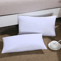 Down Feather Throw Pillow Insert 12X20 Couch Pillow Insert Set of 2 100% Cotton