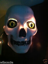 Individually Enhanced Hand Painted Halloween Scary Plastic Skull wt Glass Eyes