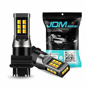 JDM ASTAR 2x 3157 Dual Color Switchback 21SMD White Yellow LED Turn Signal Light