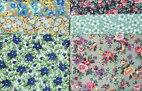 Calico Green Fat Quarter | Mask Fabric | Precut Quilting Cotton | Set of 6