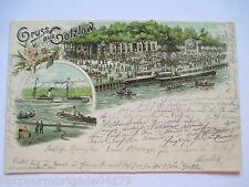 seltene alte AK Gruss aus Gotzlow Stettin Pommern gelaufen 1900