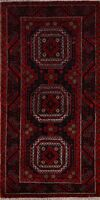 Tribal Geometric Balouch Hand-Knotted Area Rug Traditional Oriental Carpet 3x6