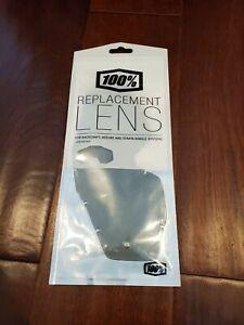 100% Racecraft/Accuri/Strata Replacement Lens - Smoke, Anti Fog Lens