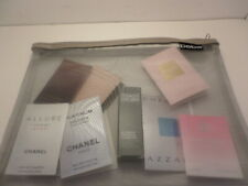 "12"" silver mesh BEBE lingerie bag + FREE samples Chanel Homme Clinique men Donna"