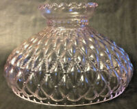 """New 10"""" Pink Crystal Glass Diamond Quilted Student Lamp Shade, Crimp Top, #SH408"""