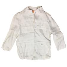 Inserch Collection White Men Linen Dress Shirt Size 2XL Big & Tall