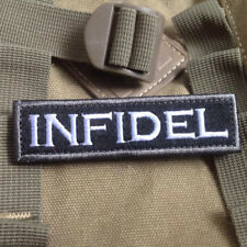 2* INFIDEL New Swat Military Tactical Patch Army Morale Badge Armband Hook&Loop