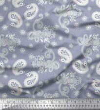 Soimoi Fabric Floral & Paisley Printed Fabric 1 Yard - PSL-559G