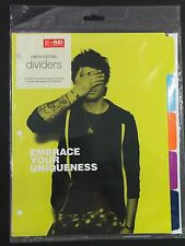 ONE DIRECTION 1D Zayn Office Depot Against Bullying Dividers Set New Complete