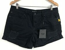 Bettina Liano Womens Ink Wash Casual Patch Shorts Size 14 With Tags*