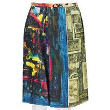 Clements Ribeiro Multicoloured Unique Silk Scarf Skirt IT42 UK10