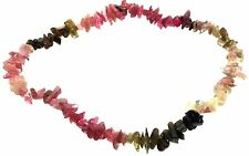 Multi Colour Tourmaline Gemstone chip bracelet