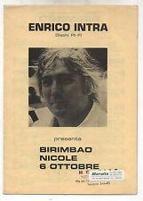 Spartito ENRICO INTRA Birimbao Nicole 6 Ottobre 1978 Sheet music Dischi RI-FI