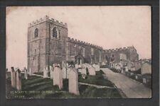 St Mary's Parish Church Whitby 1900's Brittain & Wright Postcard ~ To Carlin How