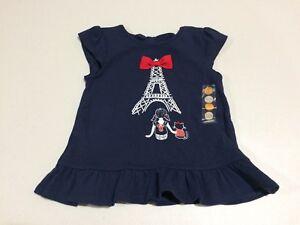 NWT Gymboree Paris Shirt Top Toddler Girls Parisian Afternoon 12-18-24M  3T 4T