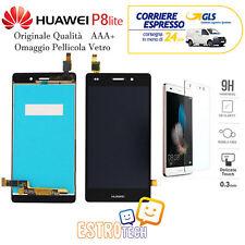 DISPLAY PER HUAWEI P8 LITE ALE-L21 NERO CON LCD ORIGINALE SCHERMO TOUCH NO FRAME