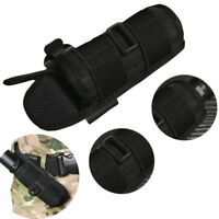 Flashlight Pouch Holster Belt Carry Case Holder with 360 Degrees Rotat Black