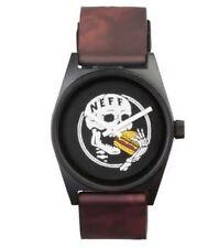 New Neff Unisex Daily Wild Watch Black/Burgundy Analog Casual Wristwatch NF0208
