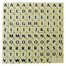 SCRABBLE TILES SINGLE LETTERS BLACK ON IVORY PACKS OF 10, 20, 50 OR 100 FREE DEL
