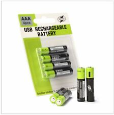 Rechargeable 4x AAA 400mAh Li-Po Battery 5V USB Charging ZNTER Lithium