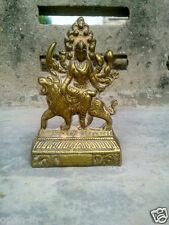 Jai Maa Devi Durga Brass Statue Hindu Goddess Lion Religious Navratri Diwali