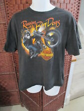 Men's Harley-Davidson Double Sided t Shirt RUNNING WITH THE BIG DOGS Size XL