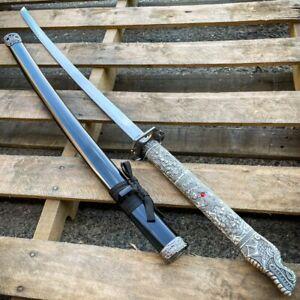 "38"" Japanese Samurai Sword Katana Dragon Engraved Ninja Blade Bushido Knife NEW"