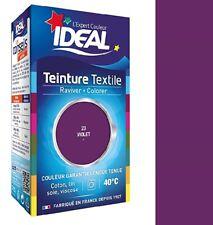TEINTURE avec FIXATEUR TEXTILE TISSU VIOLET IDEAL vetement coton soie