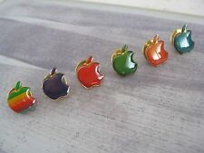 Vintage Macintosh APPLE Mac Computer Rainbow Pin Badeg Logo 6pcs