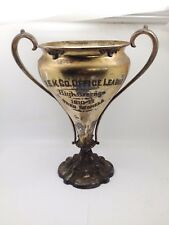 LARGE SILVERPLATE TROPHY 1910-11 G.E.K. CO. OFFICE LEAGUE HIGH AVERAGE