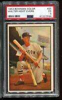 1953 Bowman Color Baseball #25 WALTER HOOT EVERS Boston Red Sox PSA 5 EX