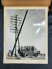 """Antique 1927 Bell telephone Southern California Photograph """"Setting A Pole"""""""