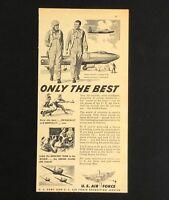 1949 US Air Force Recruitment Advertisement Lockheed F-80 Bomber Plane Print AD
