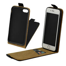 Full Black Flip Leather Phone Case Soft Cover Magnetic Skin For Apple iPhone 8