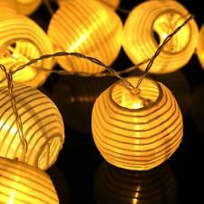 Battery Operated 20 LED Chinese Lantern Fairy String Lights Outdoor Garden Patio