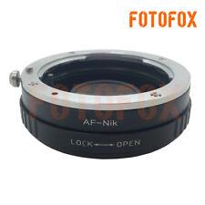 Minolta AF Sony Alpha Mount Lens to Nikon F Mount Adapter D4 D90 D600 D800 D3200