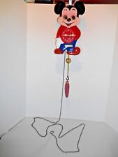 Rare Vintage Mickey Mouse Weighted Pendulum Wall Clock w/ Moving Eyes