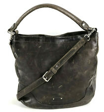 NWT Frye Melissa Hobo DISTRESSED Leather Shoulder Crossbody Bag Slate Brown