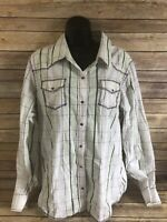 Shyanne Pearl Snap Shirt Size XXL 2XL Womens Plaid Western Long Sleeve Rodeo top