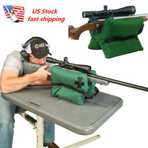 US Portable Shooting Front Rear Bench Rest Green Bag Rifle Target Stand Bag