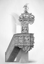 ARCHITECTURE PRINT : LAUTENBACH Church Ornamental Pulpit Carved Wood Germany