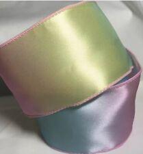 "Easter Pastel Blue Green Yellow Pink Ribbon Girls 2.5"" NEW!"