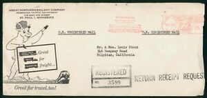 MayfairStamps Cover 1963 Minnesota Great Northern Railway St. Paul to Milpitas C