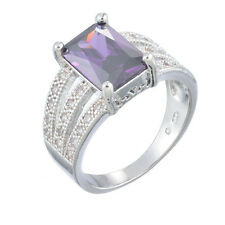 Luxury White Gold Plated Wedding Zirconia Engagement Rings Fashion Jewelry