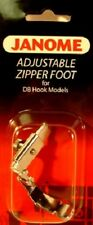 New listing Genuine Janome Adjustable Zipper Foot for Db Hook Models Part# 767408011
