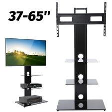 Meuble sur Pied TV Design Support en Verre Colonne LED LCD 37-65''