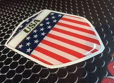 "USA United States of America Proud Shield Flag Domed Decal Emblem 3D 2.3""x 3.3"""